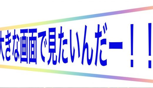 【U-NEXT】アダルト動画をテレビ画面に映す方法!!