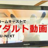 【U-NEXT】クロームキャストを使ってアダルト動画をテレビ画面に映す方法!!