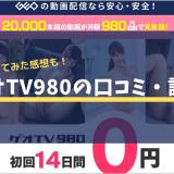 ゲオTV980の口コミ・感想
