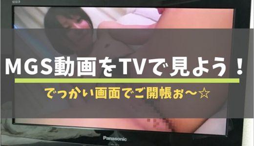 【使い方】テレビ画面でMGS動画を見る方法!画面いっぱいに広がるオマ◯コは最高の幸せ