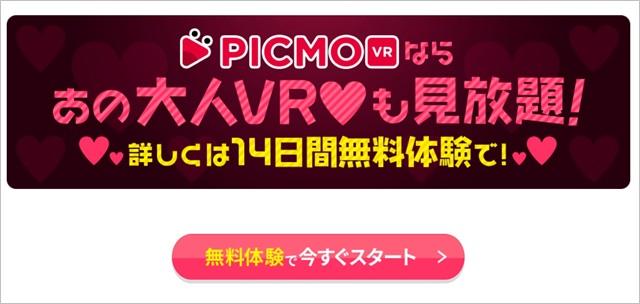 PICMO VRのLPスクショ2